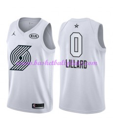 Portland Trail Blazers Trikot Herren Damian Lillard 0# Weiß 2018 NBA All Star Game Basketball Trikots Swingman