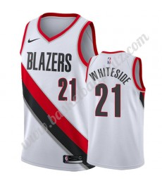 Portland Trail Blazers Trikot Herren 2019-20 Hassan Whiteside 21# Weiß Association Edition Basketbal..