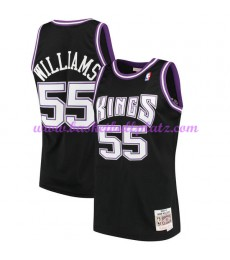 Sacramento Kings Herren 2000-01 Jason Williams 55# Schwarz Hardwood Classics Basketball Trikots NBA ..