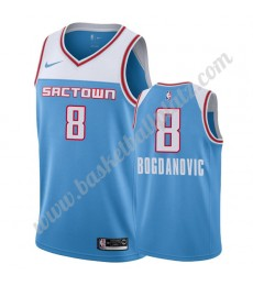 Sacramento Kings Trikot Herren 2019-20 Bogdan Bogdanovic 8# Blau City Edition Basketball Trikots NBA..
