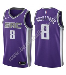 Sacramento Kings Trikot Herren 2019-20 Bogdan Bogdanovic 8# Lila Icon Edition Basketball Trikots NBA..