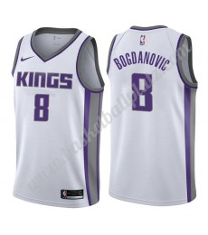 Sacramento Kings Trikot Herren 2019-20 Bogdan Bogdanovic 8# Weiß Association Edition Basketball Trik..