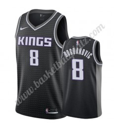 Sacramento Kings Trikot Herren 2019-20 Bogdan Bogdanovic 8# Schwarz Statement Edition Basketball Tri..
