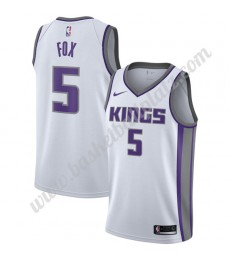 Sacramento Kings Trikot Herren 2019-20 De'Aaron Fox 5# Weiß Association Edition Basketball Trikots N..