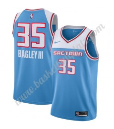 Sacramento Kings Trikot Herren 2019-20 Marvin Bagley III 35# Blau City Edition Basketball Trikots NB..