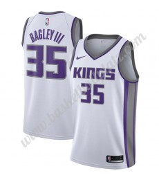 Sacramento Kings Trikot Herren 2019-20 Marvin Bagley III 35# Weiß Association Edition Basketball Tri..