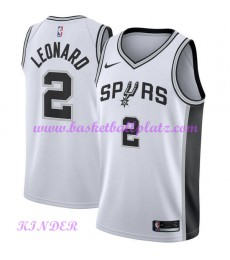 San Antonio Spurs NBA Trikot Kinder 2018-19 Kawhi Leonard 2# Association Edition Basketball Trikots Swingman