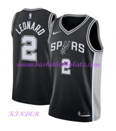 San Antonio Spurs NBA Trikot Kinder 2018-19 Kawhi Leonard 2# Icon Edition Basketball Trikots Swingman