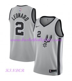 San Antonio Spurs NBA Trikot Kinder 2018-19 Kawhi Leonard 2# Statement Edition Basketball Trikots Swingman