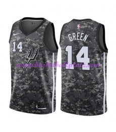 San Antonio Spurs Trikot Herren 2018-19 Danny Green 14# City Edition Basketball Trikots NBA Swingman..