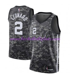 San Antonio Spurs Trikot Herren 2018-19 Kawhi Leonard 2# City Edition Basketball Trikots NBA Swingma..