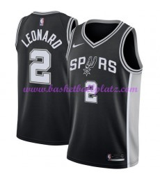 San Antonio Spurs Trikot Herren 2018-19 Kawhi Leonard 2# Icon Edition Basketball Trikots NBA Swingman