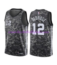 San Antonio Spurs Trikot Herren 2018-19 LaMarcus Aldridge 12# City Edition Basketball Trikots NBA Sw..