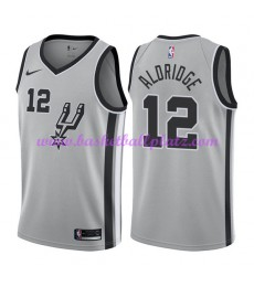 San Antonio Spurs Trikot Herren 2018-19 LaMarcus Aldridge 12# Statement Edition Basketball Trikots N..