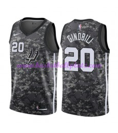 San Antonio Spurs Trikot Herren 2018-19 Manu Ginobili 20# City Edition Basketball Trikots NBA Swingm..