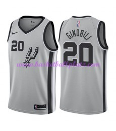 San Antonio Spurs Trikot Herren 2018-19 Manu Ginobili 20# Statement Edition Basketball Trikots NBA S..