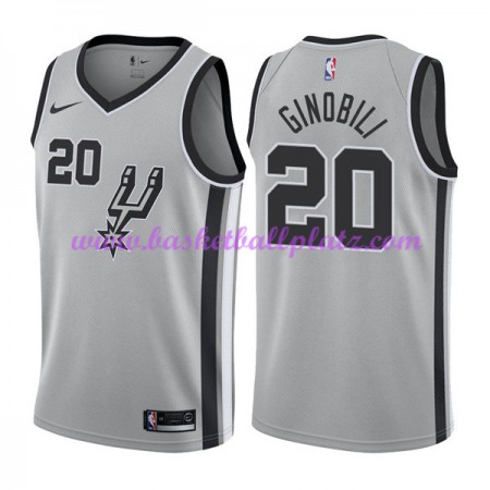 San Antonio Spurs Trikot Herren 2018-19 Manu Ginobili 20# Statement Edition Basketball Trikots NBA Swingman