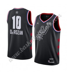 San Antonio Spurs Trikot Herren 2019 Demar Derozan 10# Schwarz All Star Game Basketball Trikots Swin..