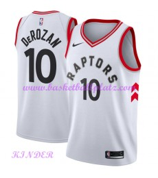Toronto Raptors NBA Trikot Kinder 2018-19 DeMar DeRozan 10# Association Edition Basketball Trikots Swingman