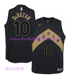 Toronto Raptors NBA Trikot Kinder 2018-19 DeMar DeRozan 10# City Edition Basketball Trikots Swingman..