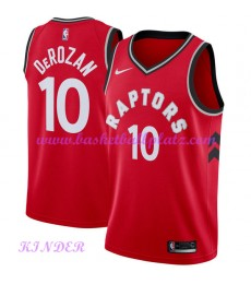 Toronto Raptors NBA Trikot Kinder 2018-19 DeMar DeRozan 10# Icon Edition Basketball Trikots Swingman