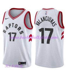 Toronto Raptors NBA Trikot Kinder 2018-19 Jonas Valanciunas 17# Association Edition Basketball Triko..