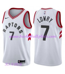 Toronto Raptors NBA Trikot Kinder 2018-19 Kyle Lowry 7# Association Edition Basketball Trikots Swingman