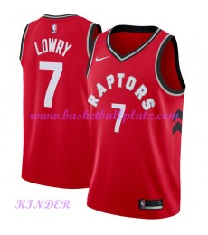 Toronto Raptors NBA Trikot Kinder 2018-19 Kyle Lowry 7# Icon Edition Basketball Trikots Swingman