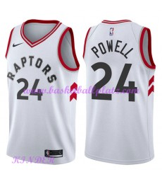 Toronto Raptors NBA Trikot Kinder 2018-19 Norman Powell 24# Association Edition Basketball Trikots S..
