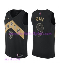 Toronto Raptors NBA Trikot Kinder 2018-19 Serge Ibaka 9# City Edition Basketball Trikots Swingman..