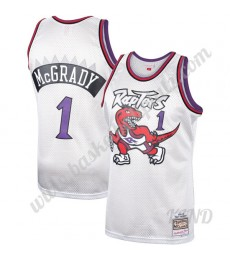 Toronto Raptors Trikot Kinder 1998-99 Tracy McGrady 1# Platinum Hardwood Classics NBA Trikots Swingm..