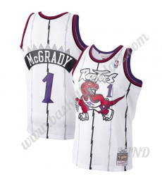 Toronto Raptors Trikot Kinder 1998-99 Tracy McGrady 1# Weiß Hardwood Classics NBA Trikots Swingman..
