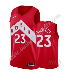 Toronto Raptors Trikot Kinder 2019-20 Fred VanVleet 23# Rot Earned Edition NBA Trikots Swingman..