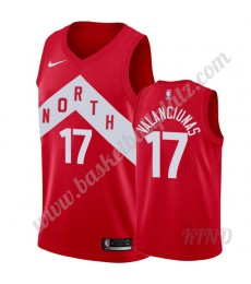 Toronto Raptors Trikot Kinder 2019-20 Jonas Valanciunas 17# Rot Earned Edition NBA Trikots Swingman..