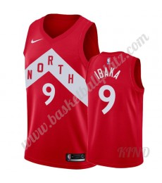 Toronto Raptors Trikot Kinder 2019-20 Serge Ibaka 9# Rot Earned Edition NBA Trikots Swingman..