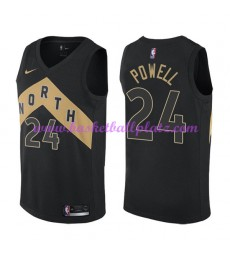 Toronto Raptors Trikot Herren 2018-19 Norman Powell 24# City Edition Basketball Trikots NBA Swingman..