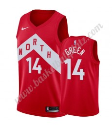 Toronto Raptors Trikot Herren 2019-20 Danny Green 14# Rot Earned Edition Basketball Trikots NBA Swin..