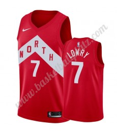 Toronto Raptors Trikot Herren 2019-20 Kyle Lowry 7# Rot Earned Edition Basketball Trikots NBA Swingm..