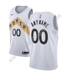 Toronto Raptors Trikot Herren 2019-20 Weiß City Edition Basketball Trikots NBA Swingman..