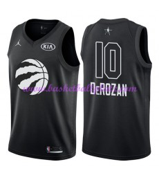 Toronto Raptors Trikot Herren DeMar DeRozan 10# Schwarz 2018 NBA All Star Game Basketball Trikots Swingman