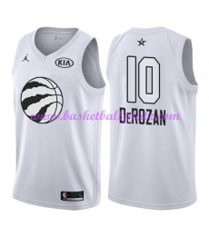 Toronto Raptors Trikot Herren DeMar DeRozan 10# Weiß 2018 NBA All Star Game Basketball Trikots Swing..