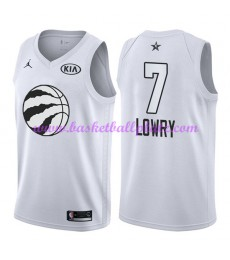 Toronto Raptors Trikot Herren Kyle Lowry 7# Weiß 2018 NBA All Star Game Basketball Trikots Swingman..