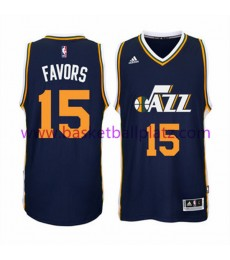 Utah Jazz Trikot Herren 15-16 Derrick Favors 15# Road Basketball Trikot Swingman