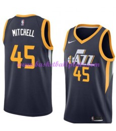 Utah Jazz Trikot Herren 2018-19 Donovan Mitchell 45# Icon Edition Basketball Trikots NBA Swingman..