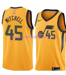 Utah Jazz Trikot Herren 2018-19 Donovan Mitchell 45# Statement Edition Basketball Trikots NBA Swingm..