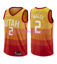 Utah Jazz Trikot Herren 2018-19 Joe Ingles 2# City Edition Basketball Trikots NBA Swingman..