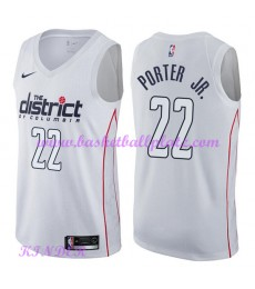 Washington Wizards NBA Trikot Kinder 2018-19 Otto Porter Jr. 22# City Edition Basketball Trikots Swi..