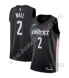 Washington Wizards Trikot Kinder 2019-20 John Wall 2# Schwarz City Edition NBA Trikots Swingman..