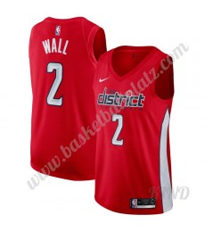 Washington Wizards Trikot Kinder 2019-20 John Wall 2# Rot Earned Edition NBA Trikots Swingman..