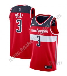 Washington Wizards Trikot Kinder 2019-20 Bradley Beal 3# Rot Icon Edition NBA Trikots Swingman..